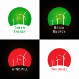 Green energy company logotype. Royalty Free Stock Photos