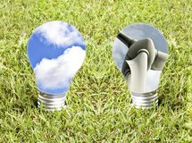 Green Energy concept. Green Energy, Global Concept for clean, green energy Stock Photo