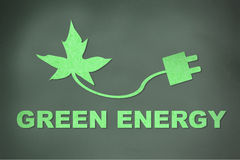 Green energy concept created from paper Royalty Free Stock Photos