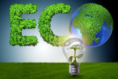 The green energy concept - 3d rendering Royalty Free Stock Photography