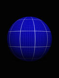 The green energy concept of Earth. 3D sphere the green energy concept with solar panel Royalty Free Stock Photo