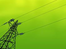 Green Energy. The concept of green ecological planet clean and green energy royalty free stock photos