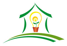 Green energy. Concept of ecology and energy with renewable Stock Image