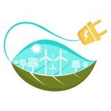 Green energy concept vector illustration