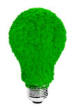Green energy concept. Light bulb with green grass Stock Photo
