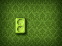 Green energy concept wall socket Royalty Free Stock Photography