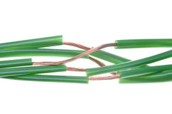 Green energy, copper cable Stock Images