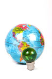 Green energy and earth Stock Image