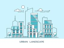 Green energy and eco friendly city. Modern architecture, buildings, skyscrapers. Flat vector illustration. 3d style. Green energy and eco friendly city. Modern stock illustration