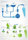 Green energy, ecology info graphics collection Stock Photo