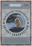 Hydro power plant banner of green energy design Stock Image
