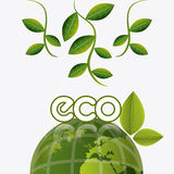 Green energy and ecology Stock Images