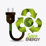 Green energy and ecology Royalty Free Stock Images