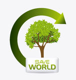 Green energy and ecology. Theme design, vector illustration Stock Photos