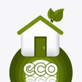 Green energy and ecology. Theme design, vector illustration Royalty Free Stock Photo