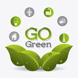 Green energy and ecology. Theme design, vector illustration Royalty Free Stock Image