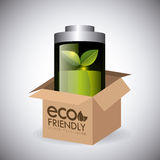 Green energy and ecology. Theme design, vector illustration Royalty Free Stock Photography
