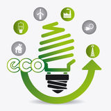 Green energy and ecology. Theme design, vector illustration Stock Image