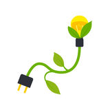 Green energy electricity icon Stock Photography