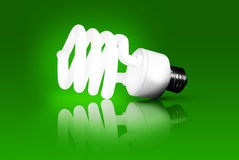 Green Energy - Energy Saving Light Bulb Royalty Free Stock Photo