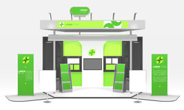 Green Energy Exhibition Stand Design Royalty Free Stock Image