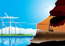Green energy farm Stock Photos