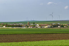 Green energy farm Royalty Free Stock Photos