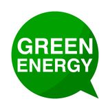 Green energy, Green Speech Bubble. Green Speech Bubble green energy, vector icon Stock Photo
