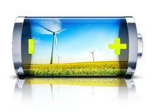Green energy. High resolution 3D rendering of a green energy concept