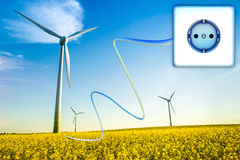 Green energy. High resolution illustration of a green energy concept Stock Photography