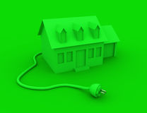 Green Energy Home Stock Photos