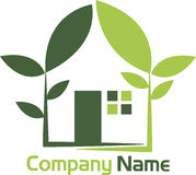 Green energy home royalty free illustration