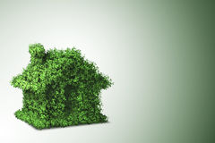 The green energy house concept - 3d rendering Royalty Free Stock Photo