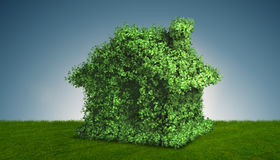 The green energy house concept - 3d rendering Stock Image