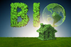 The green energy house concept - 3d rendering Stock Photos
