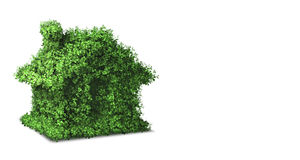 The green energy house concept - 3d rendering Royalty Free Stock Photos
