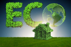 The green energy house concept - 3d rendering Royalty Free Stock Images