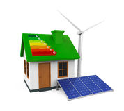 Green Energy House Royalty Free Stock Image
