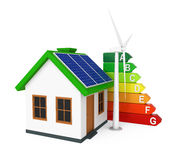 Green Energy House Stock Photos