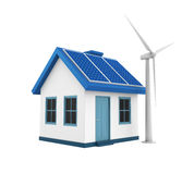 Green Energy House Stock Images