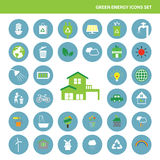 Green energy icon save the planet. Vector green energy icon save the planet Royalty Free Stock Photos
