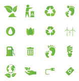 Green Energy icon set Royalty Free Stock Images