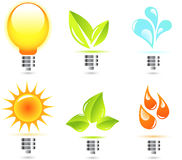 Green Energy Icons 01 Stock Photo