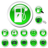 Green Energy Icons. Various green energy concepts with on and off state web icons Royalty Free Stock Image