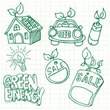 Green Energy Icons Royalty Free Stock Photos