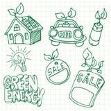 Green Energy Icons Royalty Free Stock Photos
