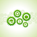 Green energy icons design concept Stock Image