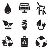 Green Energy Icons Royalty Free Stock Photo