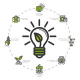 Green Energy Illustration Royalty Free Stock Images