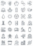 Green energy and industry icon set Royalty Free Stock Photography